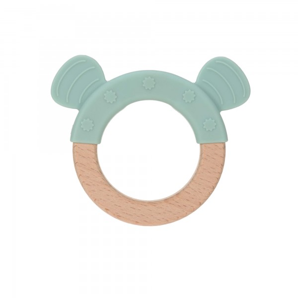 "Lässig Teether ""Ring"" Wood/Silicone Little Chums"