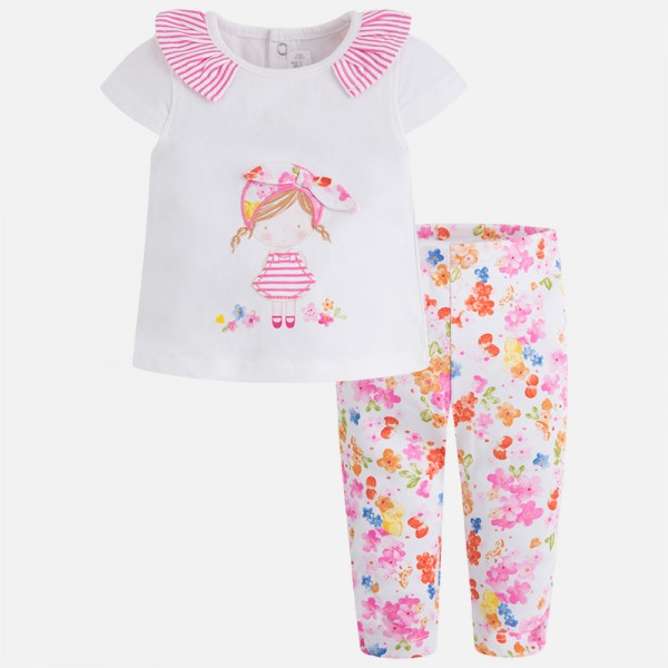 Mayoral 2-tlg Baby-Set T-Shirt und Leggings, Pistacho, Gr 80