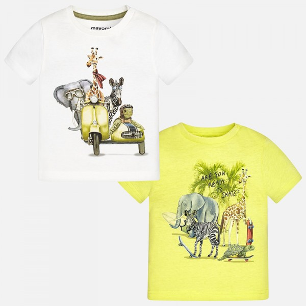 Mayoral 2-tlg Jungen T-Shirt-Set Safari, Ananas