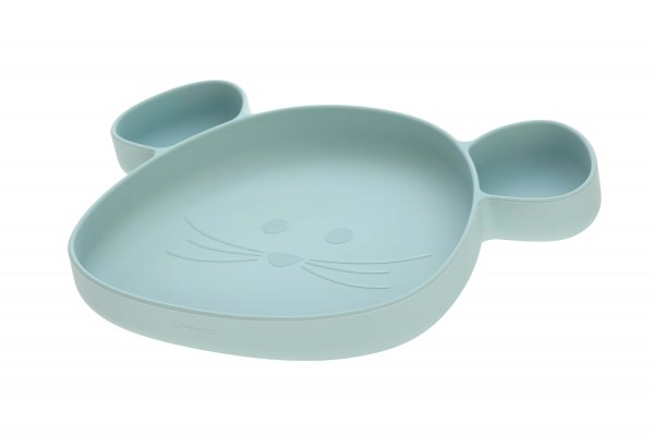 Lässig Section Plate Silicone Little Chums Mouse