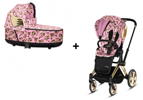 Cybex e-PRIAM Kombikinderwagen inkl. Seatpack und Carry Cot by Jeremy Scott