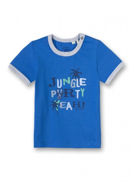 Eat Ants by Sanetta Jungen-T-Shirt, Jungle Party dunkelblau 50001